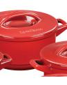 Panela Caçarola Ceraflame Duo+ em Cerâmica Vermelho