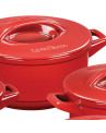 Jogo de Panelas Ceraflame Duo+ Smart em Cerâmica Vermelho Pomodoro 9 Peças