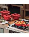 Panela Ceraflame Duo+ em Cerâmica Vermelho Pomodoro 28cm