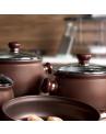 Conjunto de Panela Caçarola Ceraflame Premiere 24cm 7 Litros Chocolate