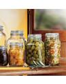 Conjunto de Potes Herméticos Italianos Para Cozinha Fido Bormioli Rocco