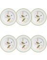 Prato de Sobremesa do Aparelho de Jantar Forest Porto Brasil Cerâmica Branco 6 Peças 2cm x 20,5cm