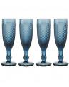 Taça de Champagne Bico de Jaca Azul 156ml